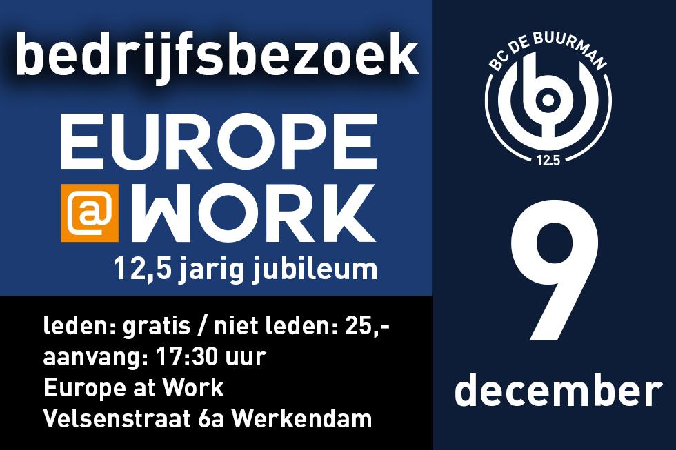 9 dec. – Europe at Work 12,5 jaar