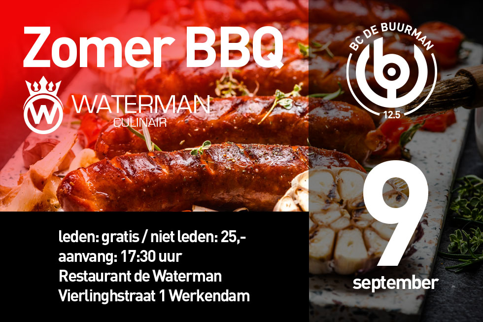 9 sept. – zomer BBQ de Waterman